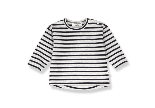 1+ IN THE FAMILY 1+ in the Family Cannet Long sleeve Stripe Blue notte
