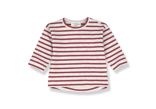 1+ IN THE FAMILY 1+ in the Family Cannet Long sleeve Stripe red