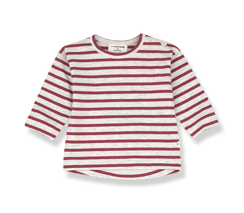1+ in the Family Cannet Long sleeve Stripe red
