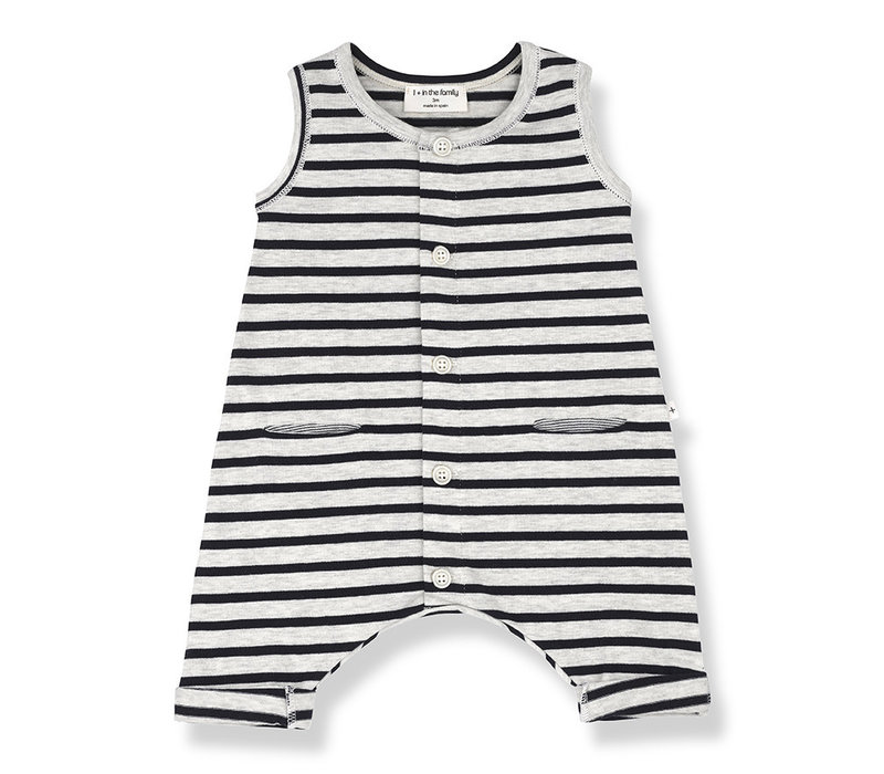 1+ in the Family Monaco onesie Blue notte