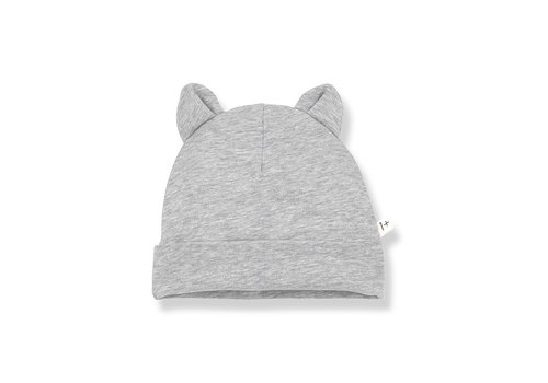 1+ IN THE FAMILY 1+ in the Family Leo Beanie w/ ears grey melange