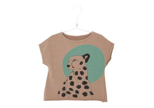 Lötiekids Lotiekids Crop Sweatshirt Cheetah Clay Pink