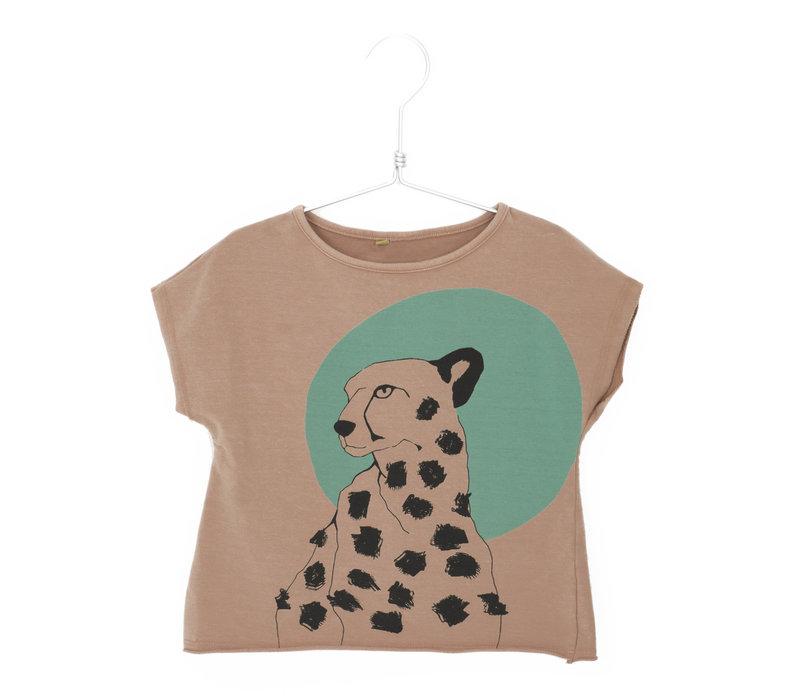 Lotiekids Crop Sweatshirt Cheetah Clay Pink