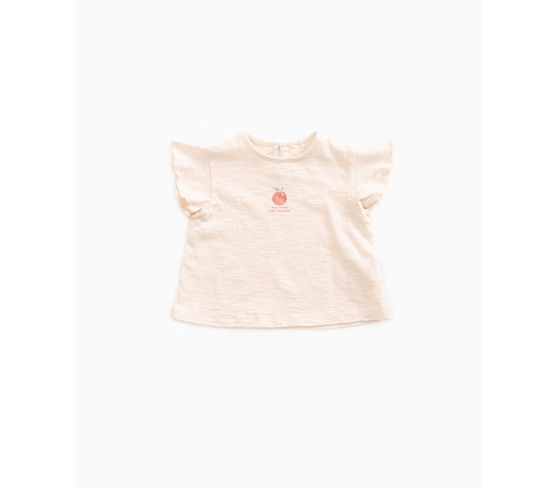 Play Up Flame Jersey T-shirt Peach