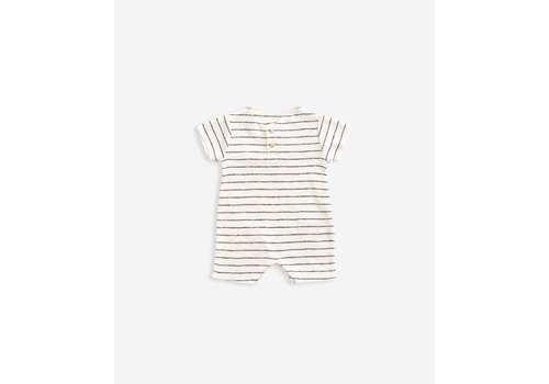 Play Up Play Up striped rib jumpsuit