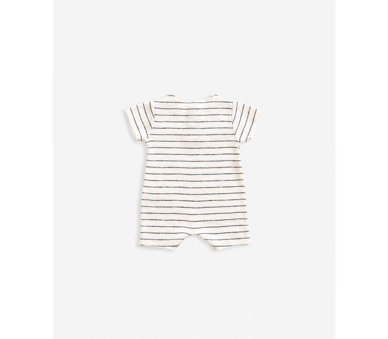 Play Up striped rib jumpsuit