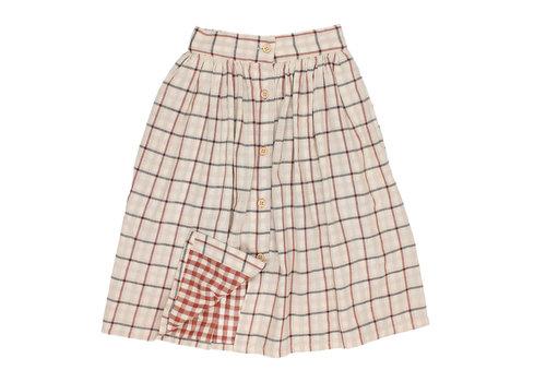 BUHO Buho Brooke woven midi skirt