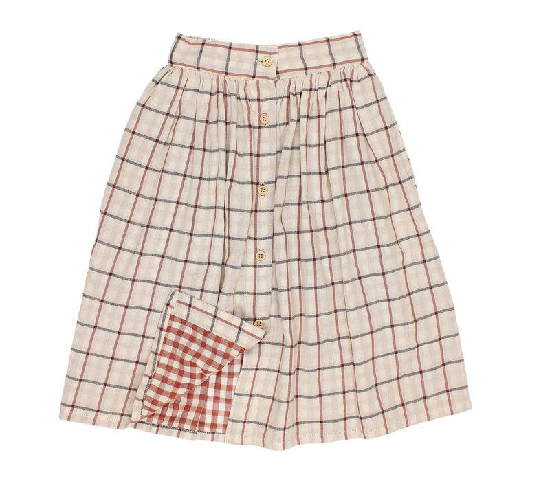 Buho Brooke woven midi skirt