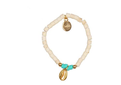 BUHO Buho Bracelet Shell Aqua
