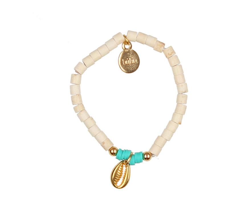 Buho Bracelet Shell Aqua