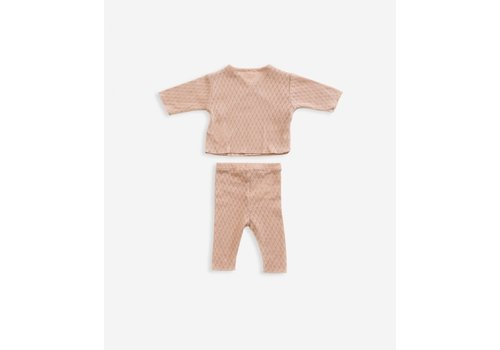 Play Up Play Up Cardigan and trousers Set brown