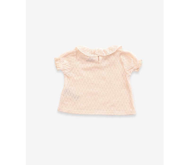 Play Up Ajour Rib T-shirt Sheashell