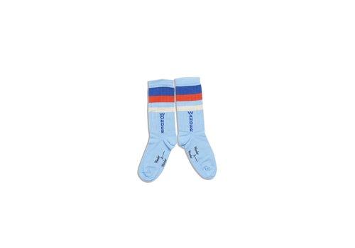 Wander & Wonder Wander & Wonder Stripe Socks Blue