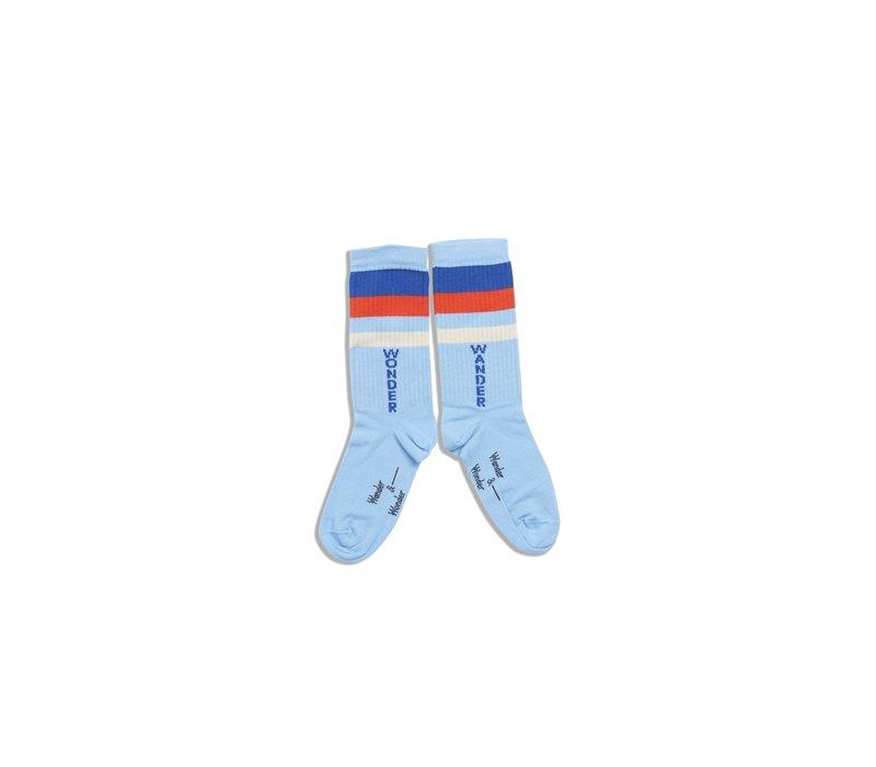 Wander & Wonder Stripe Socks Blue