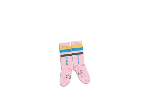 Wander & Wonder Wander & Wonder Stripe Socks Pink