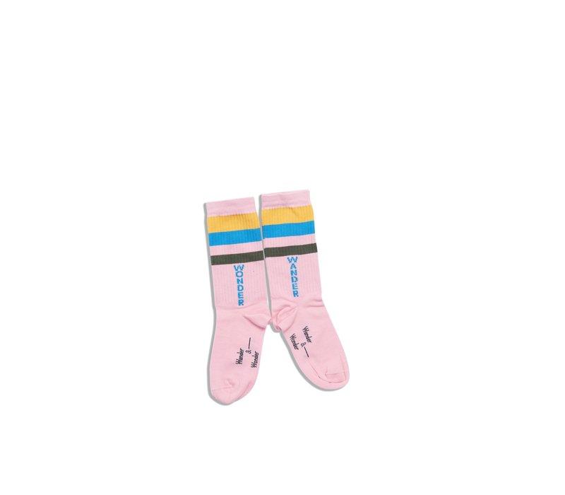 Wander & Wonder Stripe Socks Pink