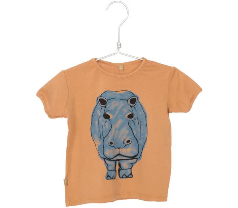 Lotiekids Tee retro fit rib Hippo Peach