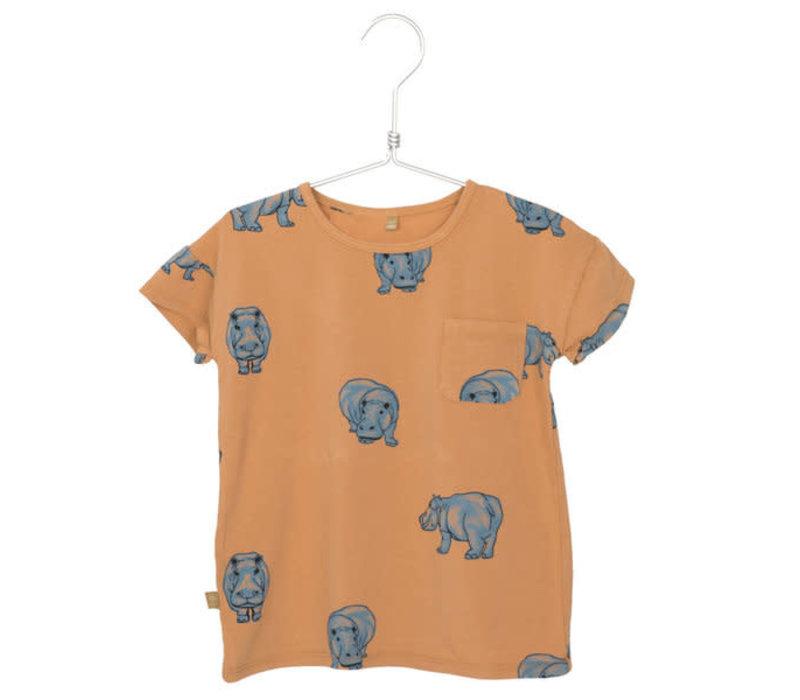 Lotiekids Tee Hipoppotamus Peach