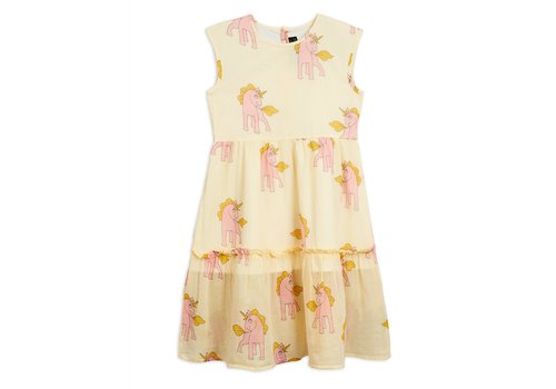 Mini Rodini Mini Rodini Woven Unicorns Dress