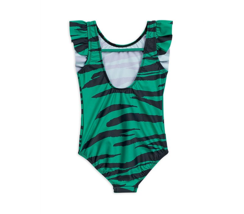 Mini Rodini Tiger Swimsuit  green