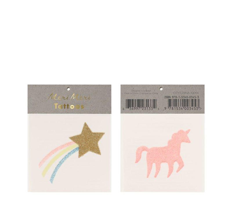 Meri Meri Star & Unicorn Glitter tattoos