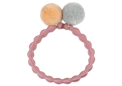 Bon Dep Copy of Bon Dep Kknekki PomPom hair tie Navy