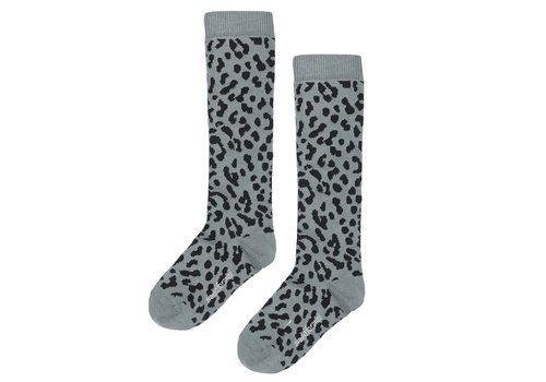 Maed for mini Maed for mini Brown Blue Leopard Knee Socks