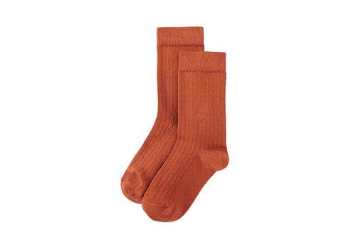 Mingo Mingo Socks Light Terracotta / Dark Ginger