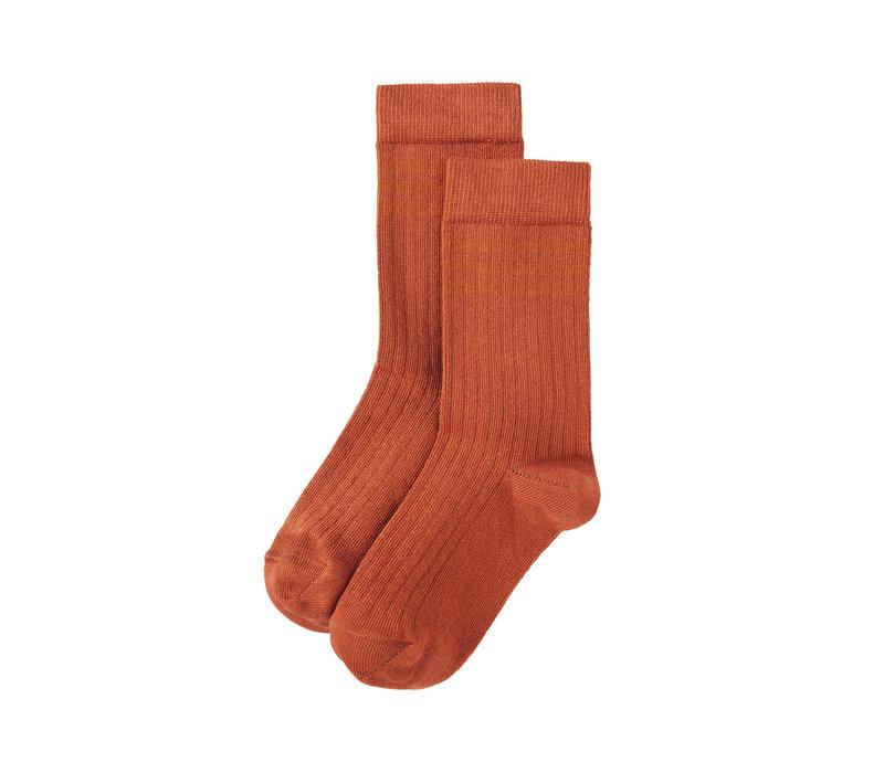 Mingo Socks Light Terracotta / Dark Ginger