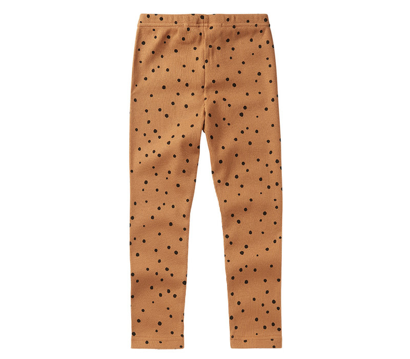 Mingo Legging Dot Caramel / black