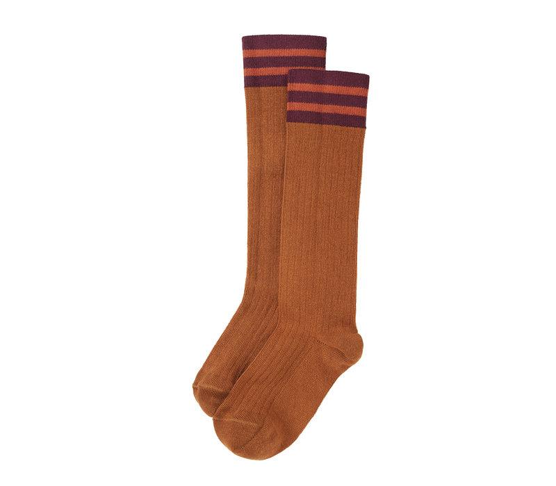 Mingo Knee socks Caramel/ Plum