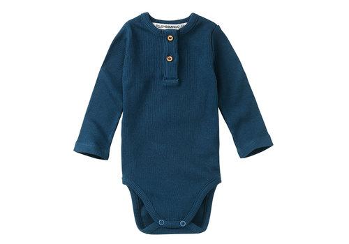 Mingo Mingo Rib Bodysuit Teal Blue