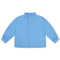 Repose AMS 39. Ruffle Blouse Bright Sky Blue