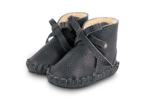 Donsje Donsje_Baby Slof_Pina classic Lining_Petrol Grain Leather