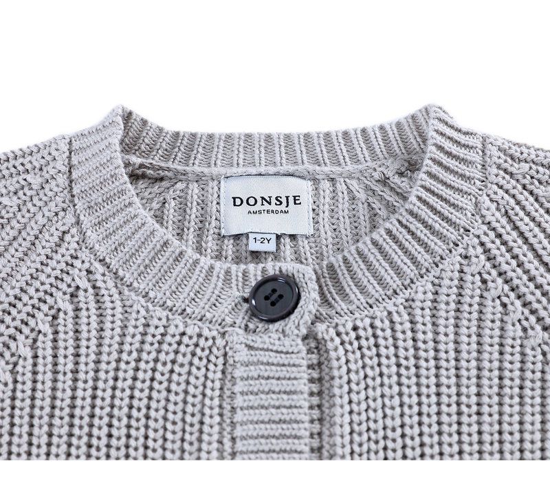 Donsje Harper Cardigan Light Stone