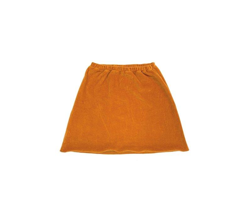 Longlivethequeen_Velvet skirt_Inca Gold