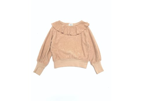 Long Live the Queen Longlivethequeen_Volant Terry Sweater_Rose Beige