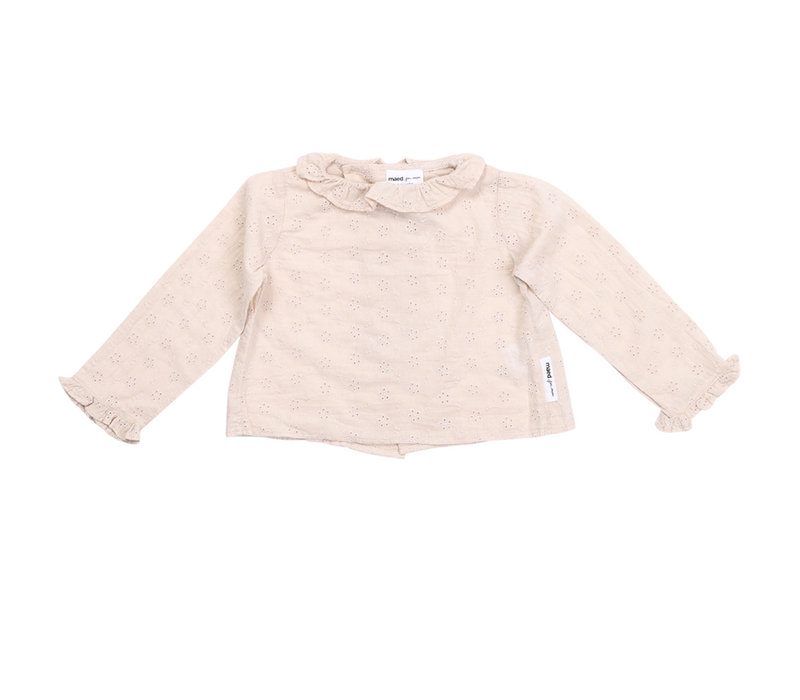 Maed for Mini Flower Ferret AOP Baby Blouse