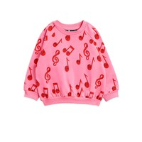 Mini Rodini Notes aop sweatshirt pink
