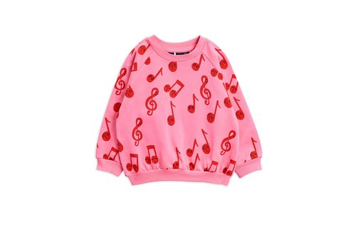 Mini Rodini Mini Rodini Notes aop sweatshirt pink