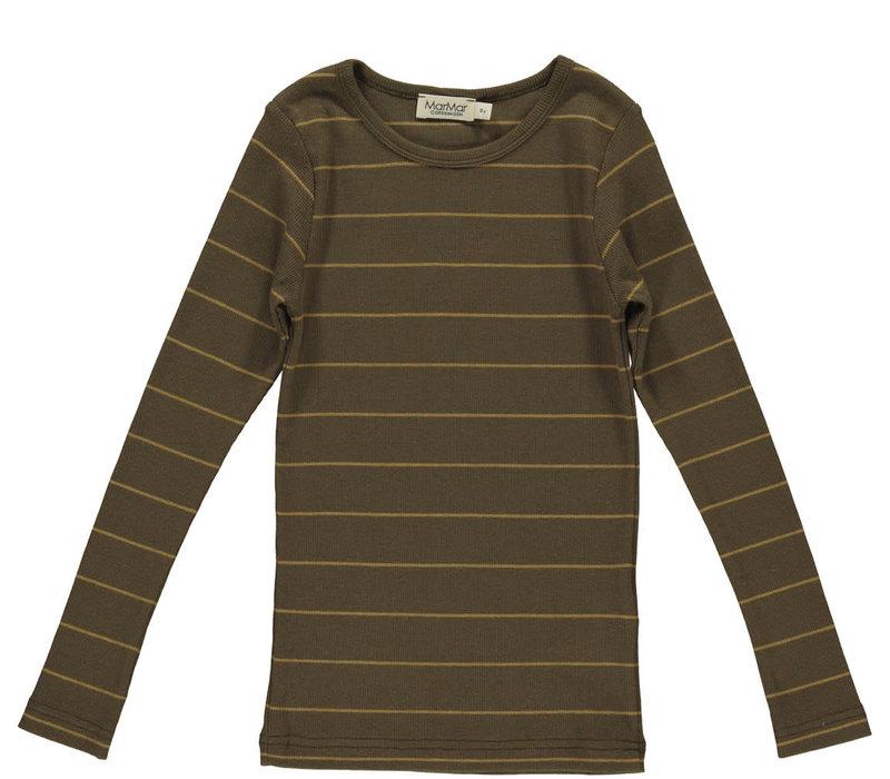 MarMar Copenhagen_Tani Modal Tee LS_Golden Olive Stripe