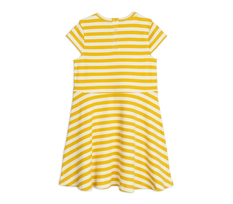 Mini Rodini Stripe rib SS dress