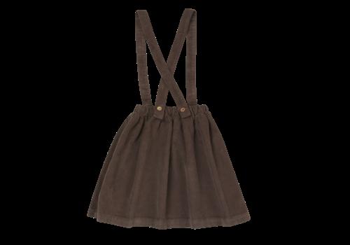 Blossom Kids Blossom Kids Suspender Skirt Dark Chocolate