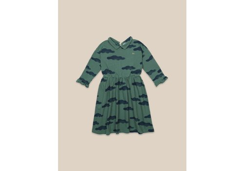 Bobo Choses Bobo Choses Clouds All Over Dress Green