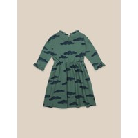 Bobo Choses Clouds All Over Dress Green