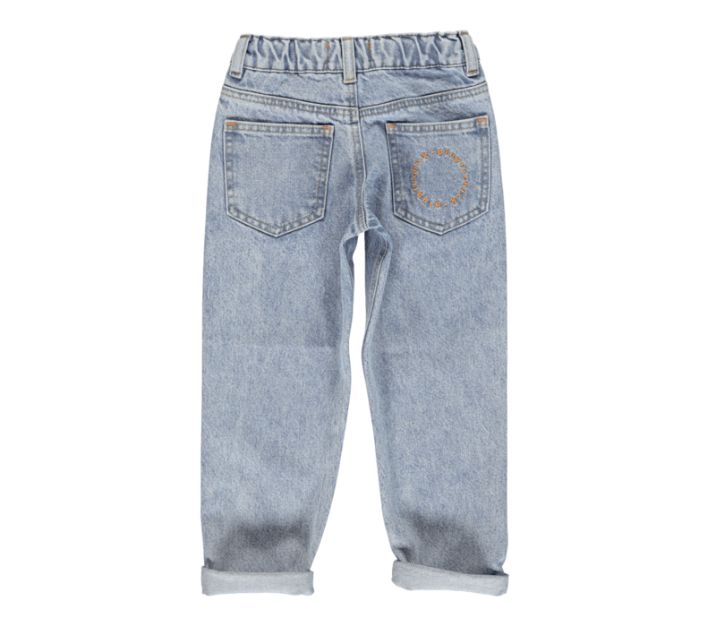 Piupiuchick Mom fit trousers | Washed light