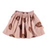 PIUPIUCHICK Piupiuchick Short skirt Pale pink w/ lips allover