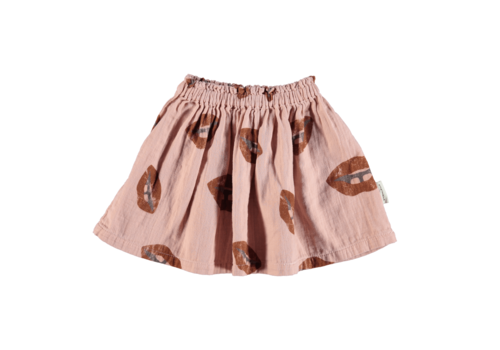 PIUPIUCHICK Piupiuchick Short skirt Pale pink w/ lips allover