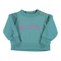 Piupiuchick Sweatshirt | Emerald w/hotel print
