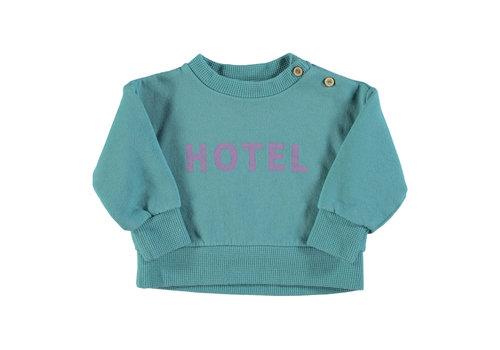 PIUPIUCHICK Piupiuchick Sweatshirt | Emerald w/hotel print